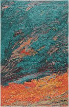 Flat Weave Rug Stay Turquoise 75x165 cm - Modern