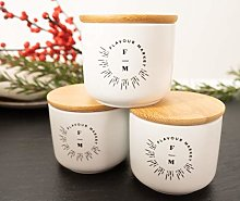 Flavour Market Ceramic Jar Set of 3 - Ceramic