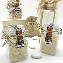 Flavoured/spiced salts in glass jar with hermetic