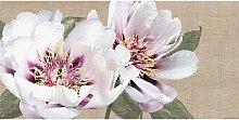 Flax Florals - Linen Canvas Print, 60 x 120cm,
