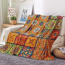 Fleece Blanket Sofa Throw,White, small