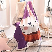 Fleece Throw Blanket Baby Soft Warm Nap Blanket,