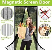 Flei Magnetic Screen Door 105x185cm, Mesh Curtain,