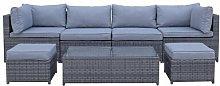 Fleishman 6 Seater Rattan Corner Sofa Set Sol 72