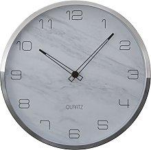Fletcher Wall Clock Norden Home Colour: Grey/Silver