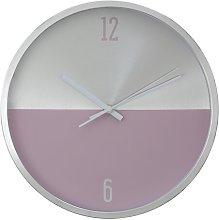 Fletcher Wall Clock Norden Home Colour: Silver/Pink