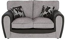Fleur Fabric And Faux Snakeskin 2 Seater Standard