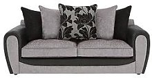 Fleur Fabric And Faux Snakeskin 3 Seater Scatter