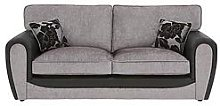Fleur Fabric And Faux Snakeskin 3 Seater Standard