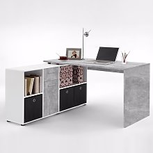 Flexi Modern Corner Computer Desk In Atelier And