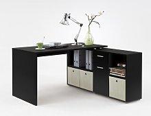 Flexi Modern Corner Computer Desk In Black