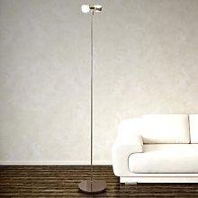 Flexible floor lamp PUK FLOOR, chrome, two-bulb