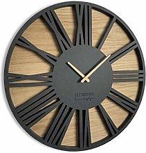 FLEXISTYLE Large Wall Clock ROMAN LOFT OAK 50cm