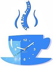 FLEXISTYLE Modern kitchen wall clock CUP (Blue)