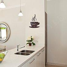 FLEXISTYLE Modern kitchen wall clock CUP (Dark