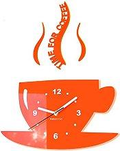 FLEXISTYLE Modern kitchen wall clock CUP (Orange)