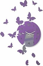 FLEXISTYLE Modern wall clock Butterflies acrylic