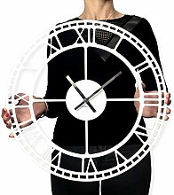 FLEXISTYLE Vintage large wall clock silent non