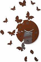 FLEXISTYLE Wall Clock, Brown, 30 cm
