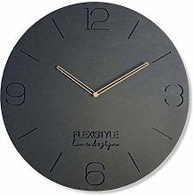 FLEXISTYLE Wall Clock, Gray, 50 cm