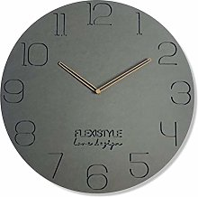 FLEXISTYLE Wall Clock, MDF FORESCOLOR, Gray, 50 cm