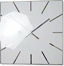 FLEXISTYLE Wall Clock, White, 50 cm