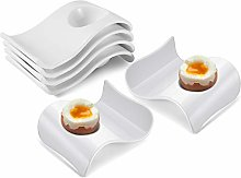 Flexzion Ceramic Egg Cups Set of 6/Half Dozen