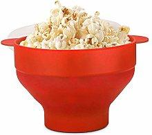 Flexzion Microwave Popcorn Popper Maker with Lid,