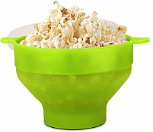 Flexzion Microwave Popcorn Popper Maker with Lid,