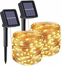 flintronic Solar String Lights Outdoor, 2PCS