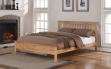 Flintshire Pentre Hardwood Oak Finish Bed Frame,