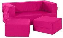 Flip Bean Bag Sofa Freeport Park Upholstery: Pink
