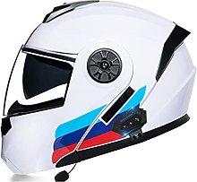 Flip Up Modular Motorcycle Helmet Men Women