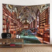 FLIPS 3D Print Vintage Bookshelf Library Tapestry
