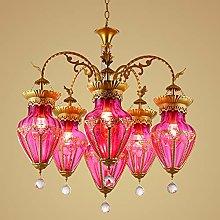 FLIPS E27 Bohemian Glass Chandelier Lighting,Bar
