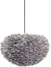 FLIPS Gray Feather Ceiling Light Pendant