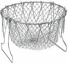 Fliyeong 1 Pcs Home Kitchen Foldable Fry Basket