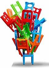 Fliyeong 1 SetPlastic Chairs Stacking Balancing