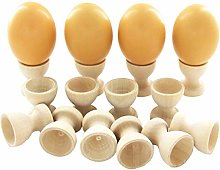 Fliyeong 10Pcs Egg Holder Cup Toy Wooden Easter