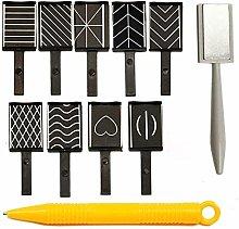 Fliyeong 11pcs/Set Nail Art Tool Magnet Pen for