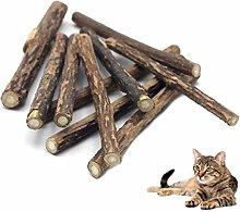 Fliyeong 5 Pcs Cat Natural Catnip,Pet Cat Teeth