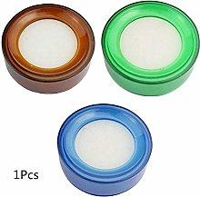 Fliyeong Clear Blue Plastic Round Case Finger Wet