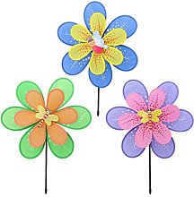Fliyeong Double Layer Flower Windmill Kid Toys,