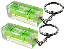 Fliyeong Mini Spirit Level Keyring Keychain Tool