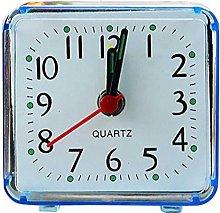 Fliyeong Square Small Bed Alarm Clock Transparent