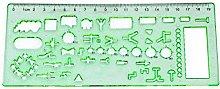 Fliyeong Template Ruler Building Formwork Stencils