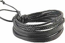 Fliyeong Unisex Multilayer Leather Bracelet