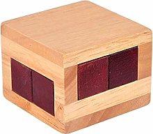 Fliyeong Wooden Magic Puzzle Brain Teaser Lock Box