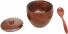 Fliyeong Wooden Seasoning Container lidded with