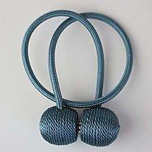 FLLOVE 1Pc Magnetic Pearl Ball Curtain Tiebacks